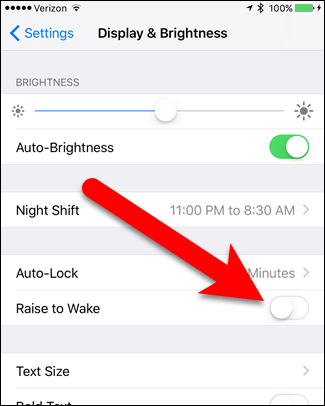 how-to-turn-off-raise-to-wake-in-ios-10-4