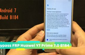 Bypass FRP Huawei Y7 Prime 7.0 B184
